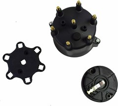 Pro Series Distributor Cap & Rotor Kit 6-Cylinder Male Black