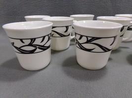 (Four) Corning, Corelle Lyric Black Coffee Tea Mugs Cups Excellent Condition - $11.75
