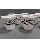 (Four) Corning, Corelle Lyric Black Coffee Tea Mugs Cups Excellent Condi... - $11.75
