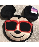 Mickey Mouse Disney Emoji Plush Pillow Cool Shades NEW Kids Room Decor - $18.99