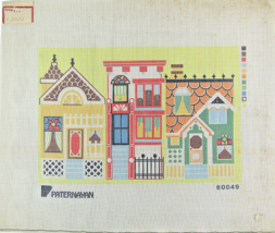 "Vintage 70s Paternayan HandPainted Canvas ""60049"" Venice Murano Living U... - $38.25"