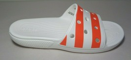 Crocs Size 9 Classic American Flag Slide White Sandals New Women's Shoes - $64.35