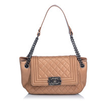 Pre-Loved Chanel Brown Lambskin Boy Accordion Flap Bag France - $2,461.00 CAD