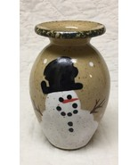 Three Rivers Pottery snowman vase Coshocton OH 1990s - $4.95