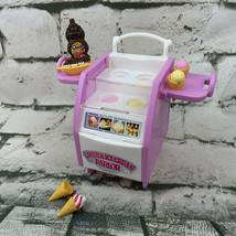 Mattel Barbie Candy Ice Cream Parlor Cart Cones Banana Split Chocolate S... - $17.82