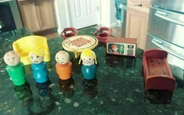 1970s Fisher Price Little People Play Family House Decorator Set 728 Incomplete - $24.59