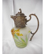VERY RARE ANTIQUE FRENCH ART NOUVEAU CAMEO GLASS EWER GP A la reine IRIS - $2,223.05