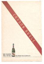 "1966 Cordon Rouge Champagne of France   Original Print Ad 6"" x 9"" - $8.95"