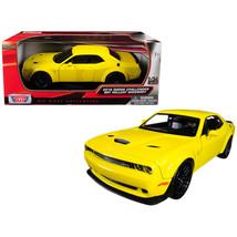 2018 Dodge Challenger SRT Hellcat Widebody Yellow 1/24 Diecast Model Car... - $31.10