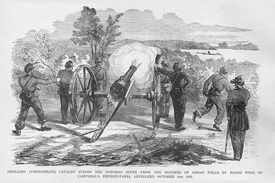 Campbell's Pennsylvania Artillery Shells Great Falls, Virginia by Frank Leslie - - $19.99 - $179.99
