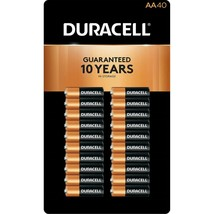 Duracell CopperTop AA Alkaline 1.5 V Batteries - 40 count - $39.59