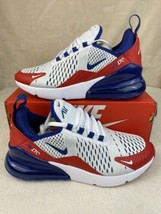 Nike Air Max 270 GS Shoes White/Red/Blue CW5855-100 Youth Size 4.5Y Wome... - $123.70