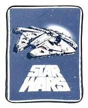 Jay Franco & Sons Star Wars Plush Throw Millennium Falcon Spaceship Blanket - $22.40