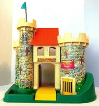 1974 Fischer Price Play Castle #993 Dragon & Accessories Vintage - $103.90