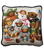 Gangs All Here Throw Pillow - artist Charles Wysocki - $39.95