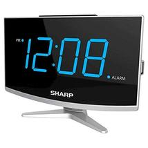 Sharp Jumbo LED curved display Alarm Clock Black With USB Port - $21.77