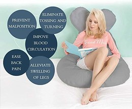 Baby Steps U-Shaped Full Body Premium Pregnancy Pillow with Washable Outer Cover