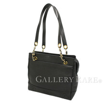 CHANEL Chain Tote Bag Caviar Leather Black Triple CC Italy Authentic 540... - $1,196.53