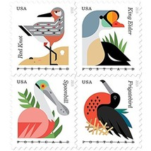 Coastal Birds Sheet of 20 Postcard Forever U.S. Postage Stamps by USPS U... - $21.14