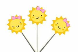Crafty Cue Sun Girl Cupcake Toppers - 12 Count - $11.99