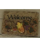 BRAND NEW WITH TAGS Fall Welcome Hanging Wall Plaque, Plaster, VERY CUTE - $14.84