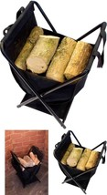 Firewood Carry Basket Holder Folding Log Carrier Holder Wood Magazine St... - $29.58