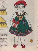 Vintage Daisy Kingdom Rudi Christmas Toddler Jumper & Hat Fabric Panel P... - $14.01