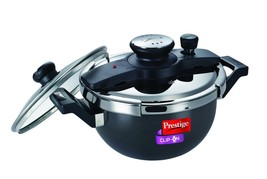 PRESTIGE CLIP-ON HARD ANODIZED 3.5 LITER PRESSURE COOKER KADAI INDUCTION... - €103,21 EUR