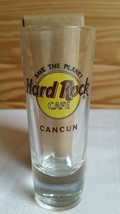 Hard Rock Cafe SHOT GLASS Cancun Dark Red Letters NEW - $4.95