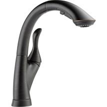 Delta Linden Pull-Out Sprayer Kitchen Faucet Venetian Bronze 4153-RB-DST (Scuff) - $194.50