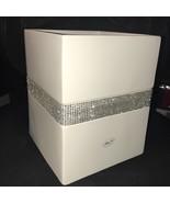 Bella Lux Bathroom Accessory Rhinestone Crystal Diamond Bathroom White T... - $99.99