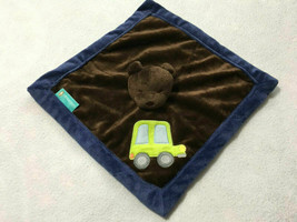 Tiddliwinks Brown Navy Blue Green Car Teddy Bear Baby Security Blanket Lovey - $9.99