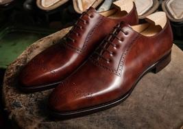 Handmade Men's Heart Medallion Leather Dress/Formal Oxford Shoes image 1