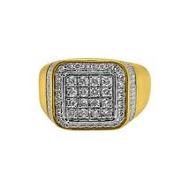 Baller 1.00cttw Diamond Mens Bling Ring 10K Gold - $919.20