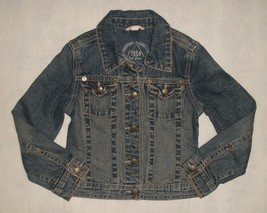 Gap 1969 Kids Distressed Denim Jean Jacket Girls Size S Small 6-7 - $26.99