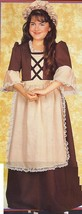 GIRL'S COLONIAL COSTUME with HAT SZ MED. 8/10 - $45.00