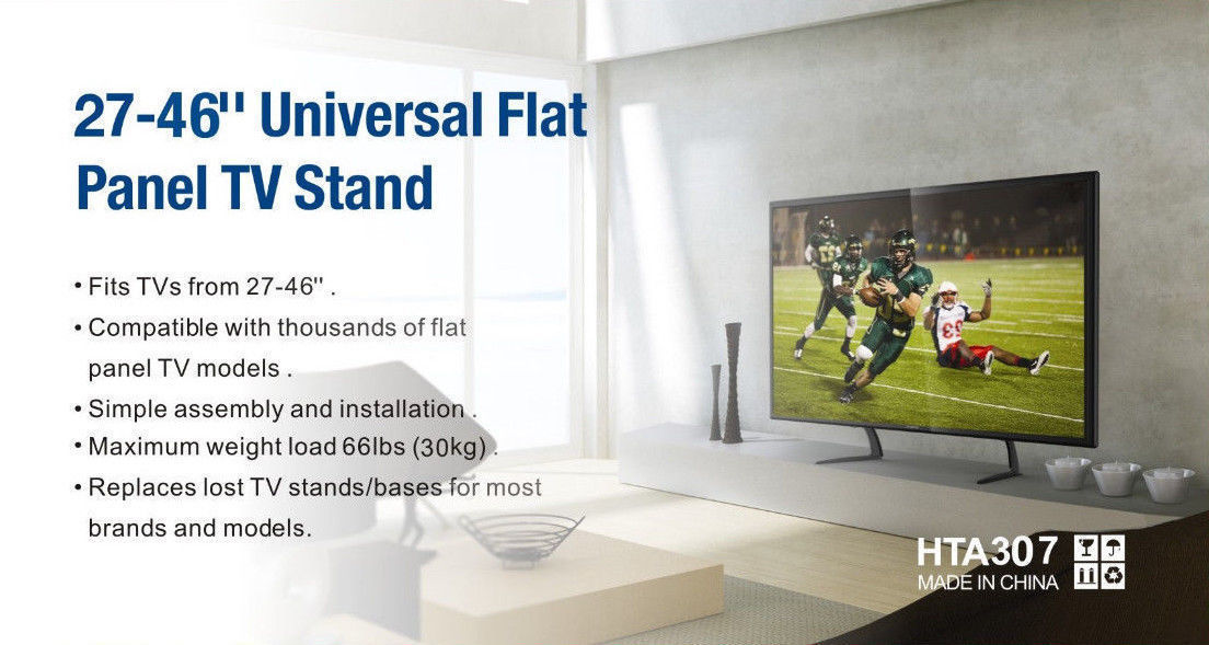 Universal Table Top TV Stand Legs for Toshiba 32LV67U, Height Adjustable