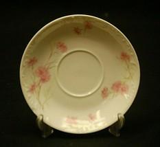 Antique Haviland Limoges France 5-1/4 Saucer Plate Pink Cornflower Smoot... - $8.90