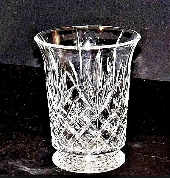 Cut Glass Vase with Detailed Design AA18-11801 Vintage Heavy
