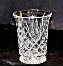 Cut Glass Vase with Detailed Design AA18-11801 Vintage Heavy image 1