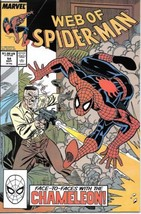 Web of Spider-Man Comic Book #54 Marvel Comics 1989 VERY FINE/NEAR MINT ... - $2.75