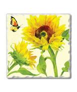 Highland Home Absorbent Coaster Set - Butterfly Sunflower 4 Pack - $23.99