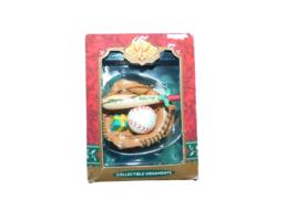 "Vintage TREVCO Ornament ""Joy To The World"" Baseball, Bat & Glove NEW Col... - $12.30"