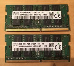 Sk Hynix 16GB (2 X 8GB) Kit DDR4 Sodimm Ram Modules PC4-2133p Mac / Laptop - $185.00
