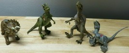 4 Jurassic Park III 3 Dinosaur Electronic Sound Toys Action Figures 2000... - $39.59