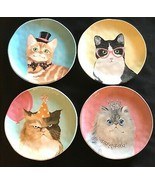 "Pier 1 Party Cats 9"" Salad Dessert Plates Set of 4 - $69.99"