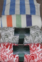 Ralph Lauren Paisley or Stripes Plush Fleece Throw Blanket 60 x 70 NWT S... - $44.99