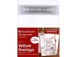 Strathmore Transparent Folded Vellum Overlay Sheets, 20 Count