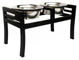 Elevated Dog Food Bowl For All Sizes - Moretti Double Diners - $64.00+