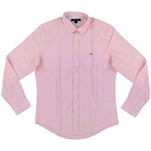 Tommy Hilfiger Men's Long Sleeve Custom Fit Pink Button Down Shirt - $44.99